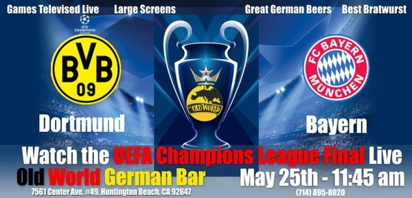 UEFA Final Llive at Old World Huntington Beach