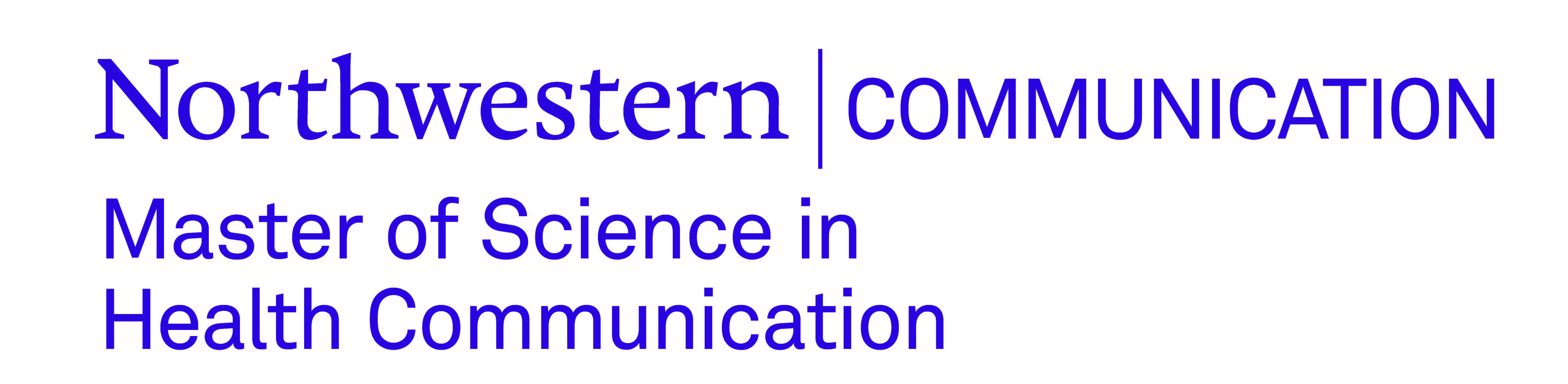 Thank you to our sponsor: Northwestern Master of Science in Health Communication program.
