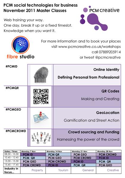 PCM social technologies masterclass A5 flyer