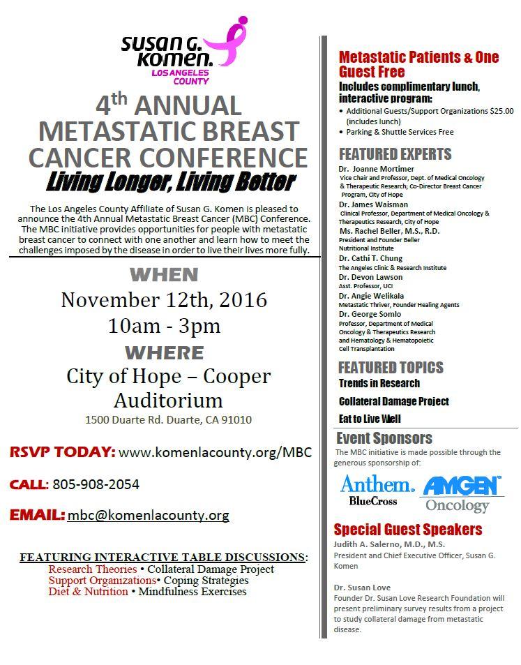 Metastatic Breast Cancer Flyer