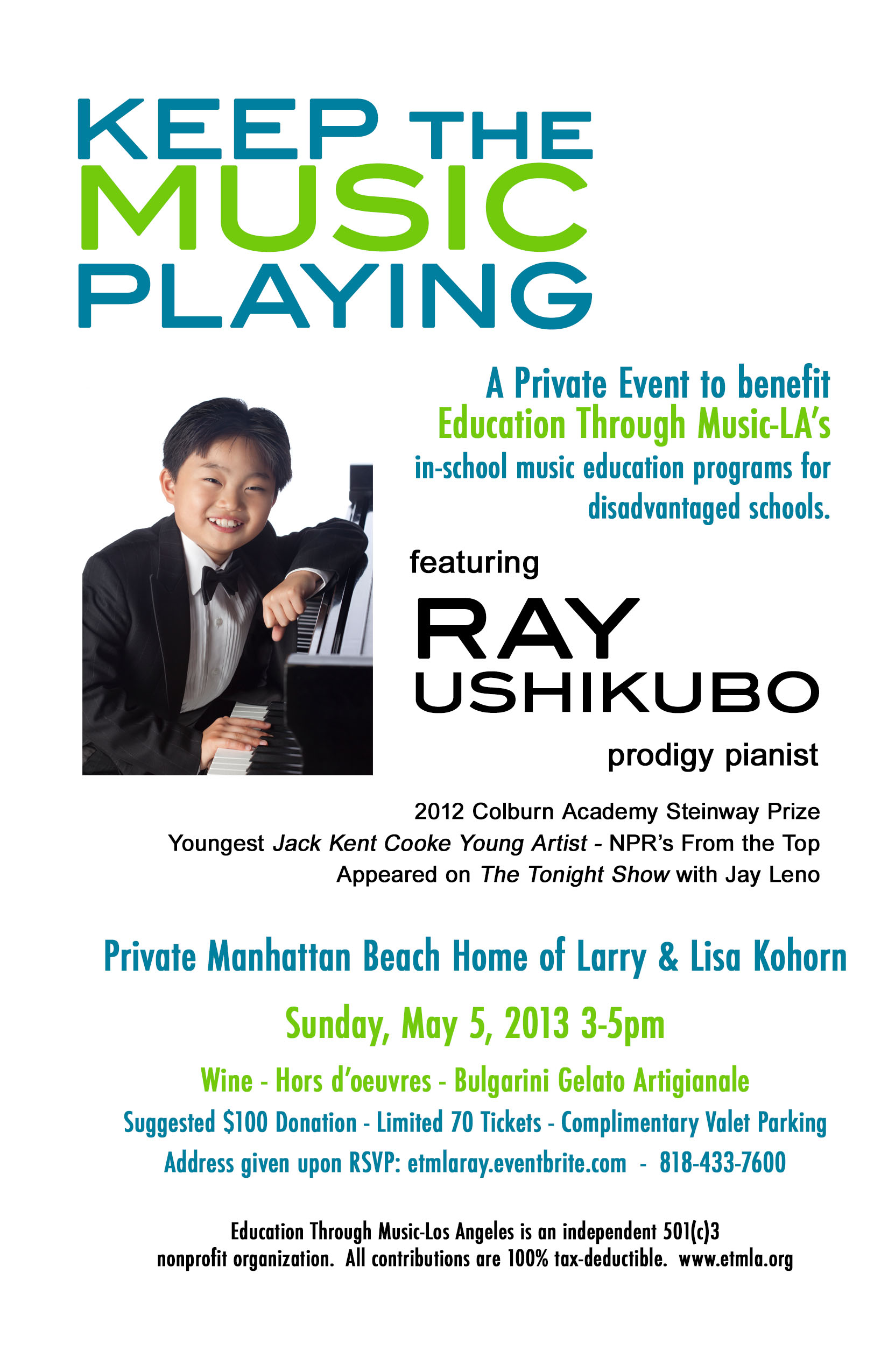Ray Ushikubo Keeps the Music Playing