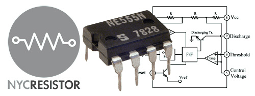 555 Chip and circuit diagram