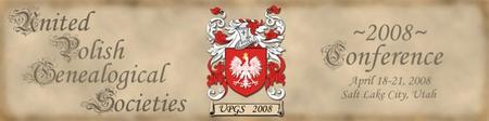 United Polish Genealogical Seminar 2008