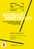 Philosophy and the Outside II: Materiality/Immateriality (CRMEP...