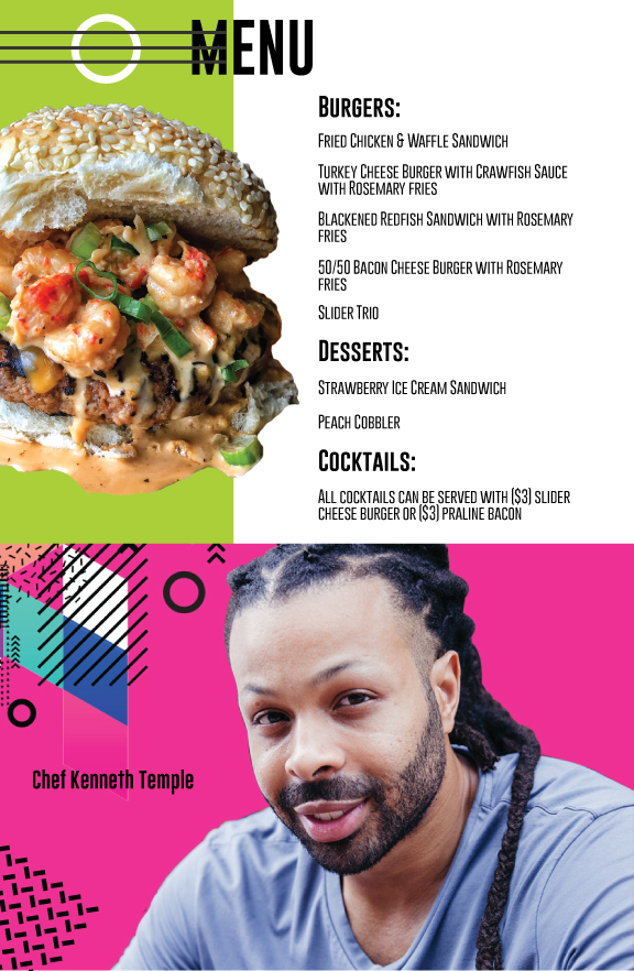 Chef Kenneth Temple CBD Social Menu