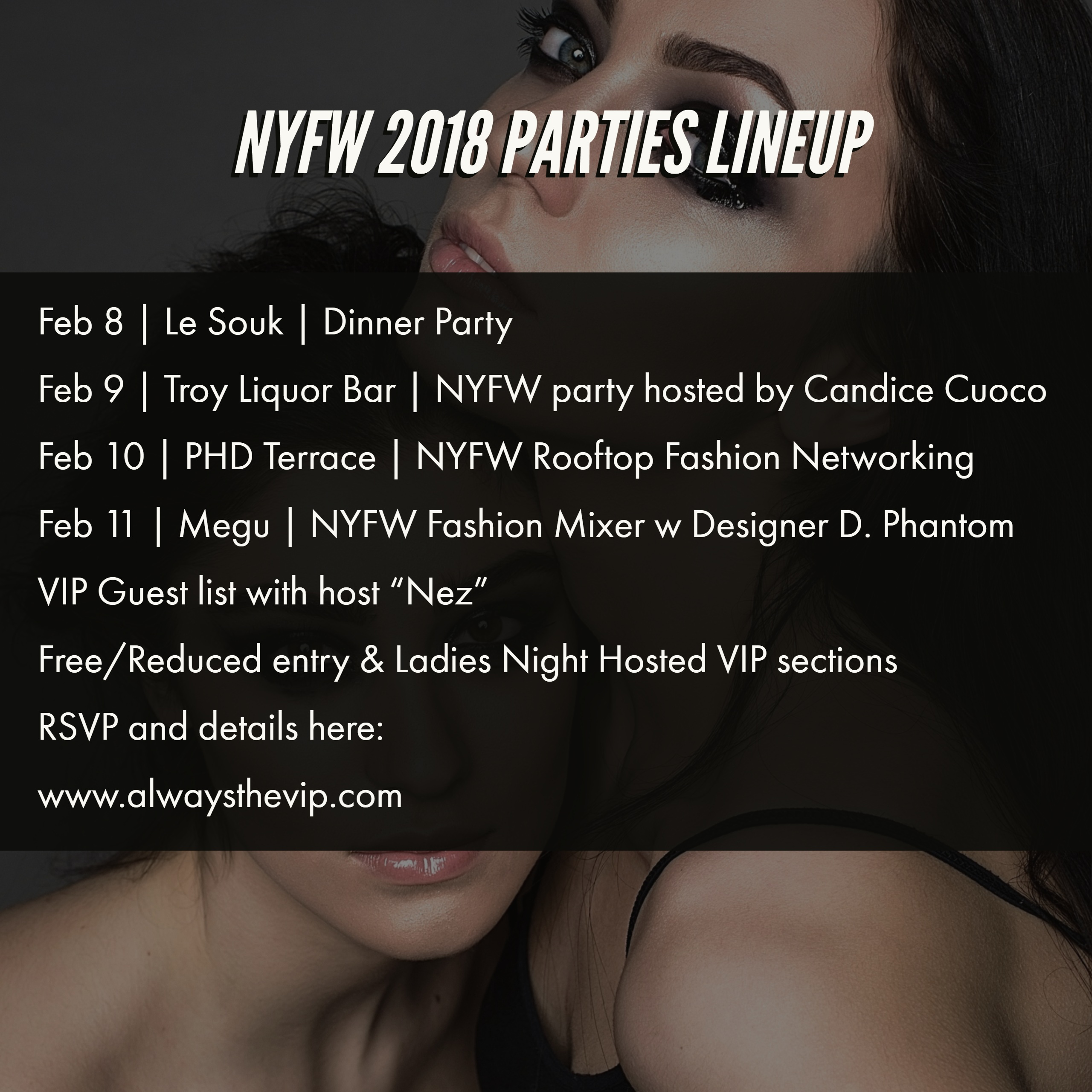 NYFW 2018 party line up