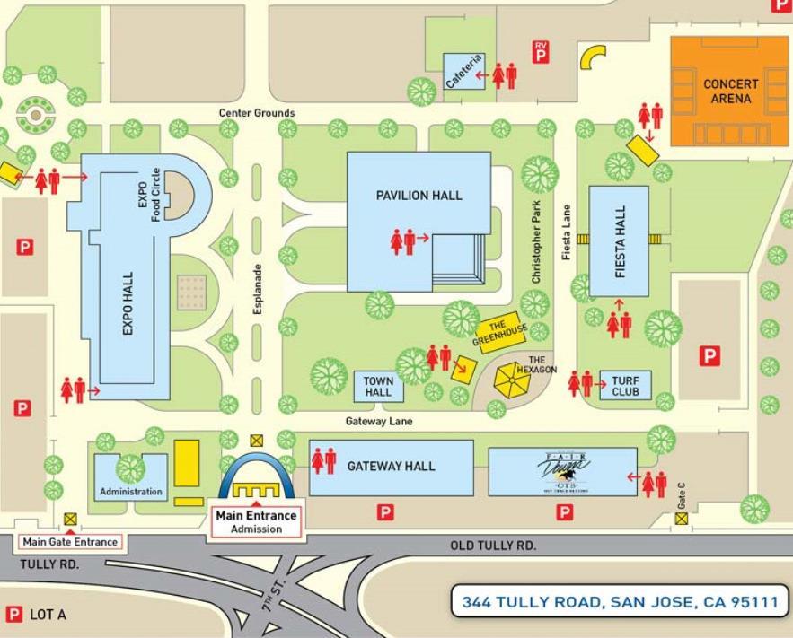 Map to June 27, 2014 SJCC&CS Graduation