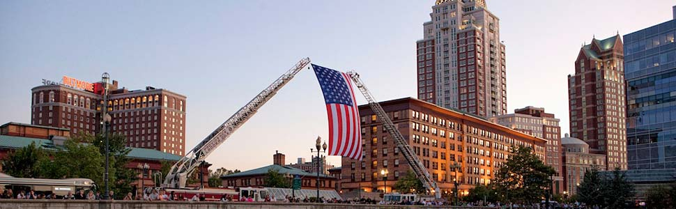 Stars and Stripes Over The Waterplace Basin