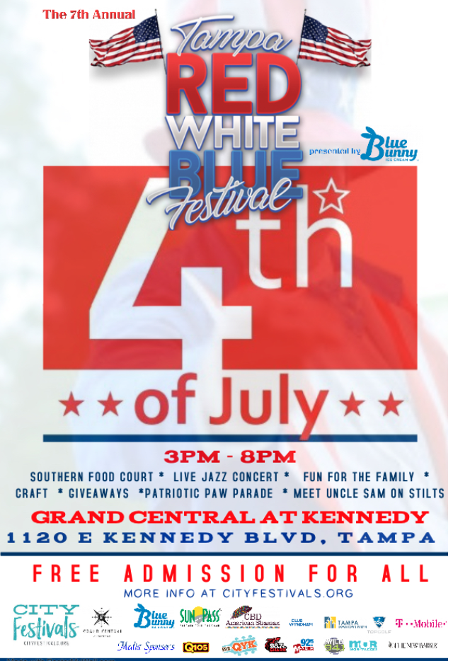 Tampa Red White Blue Fest Presented By Blue Bunny Ice Cream