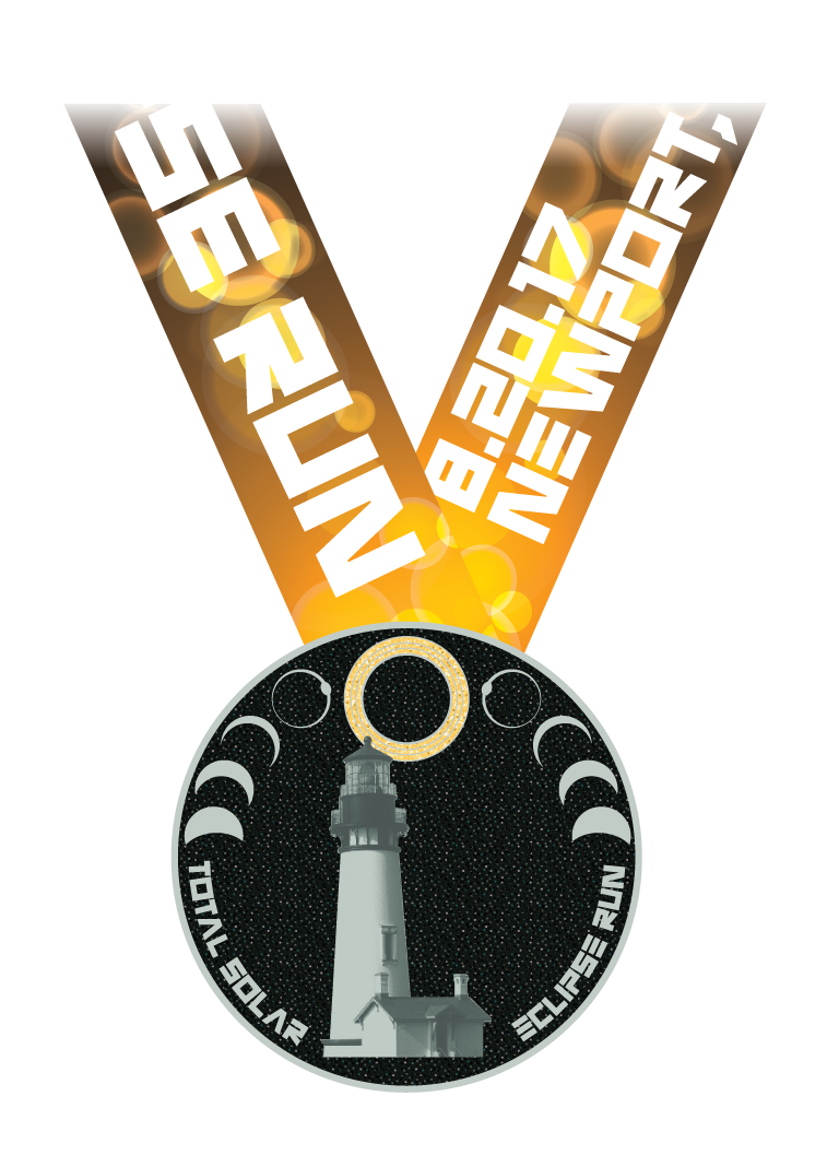 2017 Total Solar Eclipse Run Medal