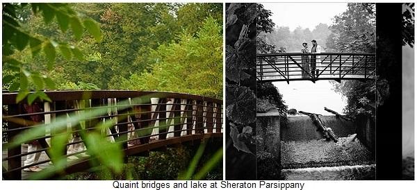 QUAINT WALKING-BRIDGES AND LAKE AT SHERATON PARSIPPANY