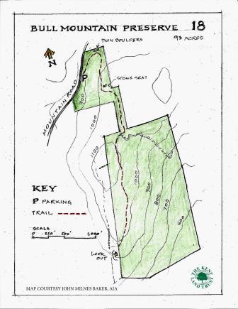 Bull Mountain Preserve Trail Map