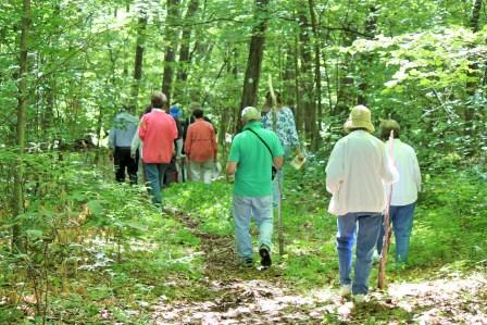 Group hike in East Kent Hamlet