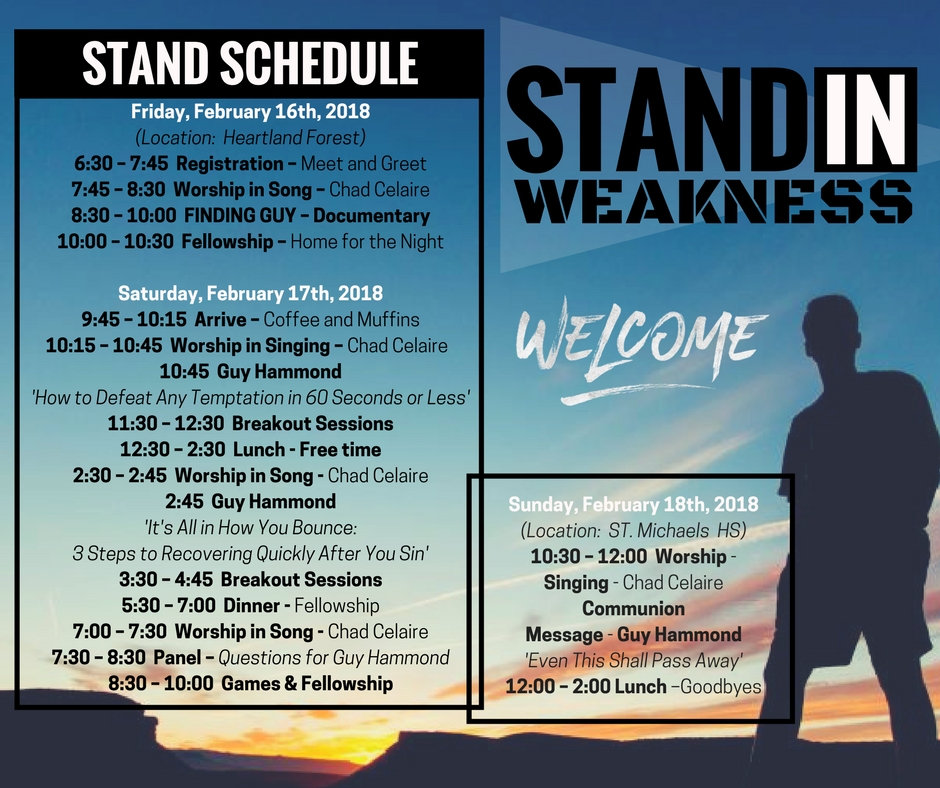 Stand Schedule