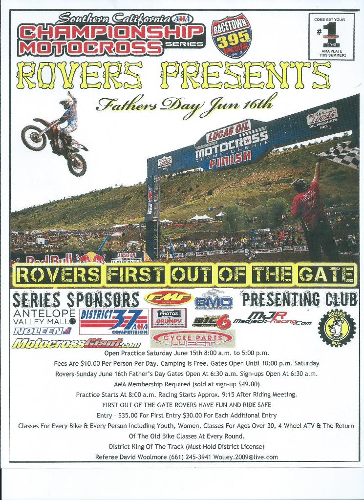Rovers 2014 MX Flyer