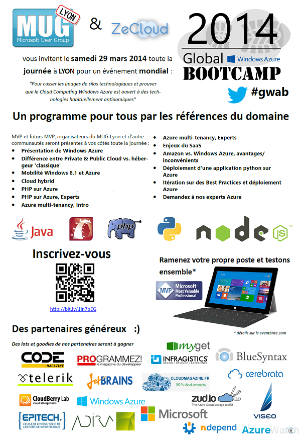 Invitation Global Windows Azure Bootcamp Lyon 2014 #GWAB