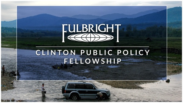 Fulbright-Clinton banner