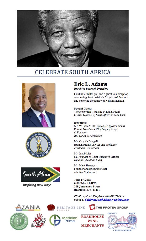 Celebrate South Africa Invitation