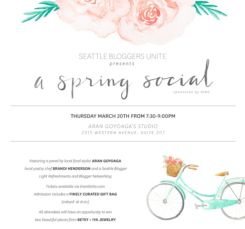 seattle bloggers unite spring social invite
