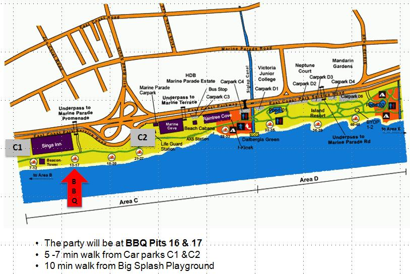 East Coast Park BBQ Pits 16 & 17