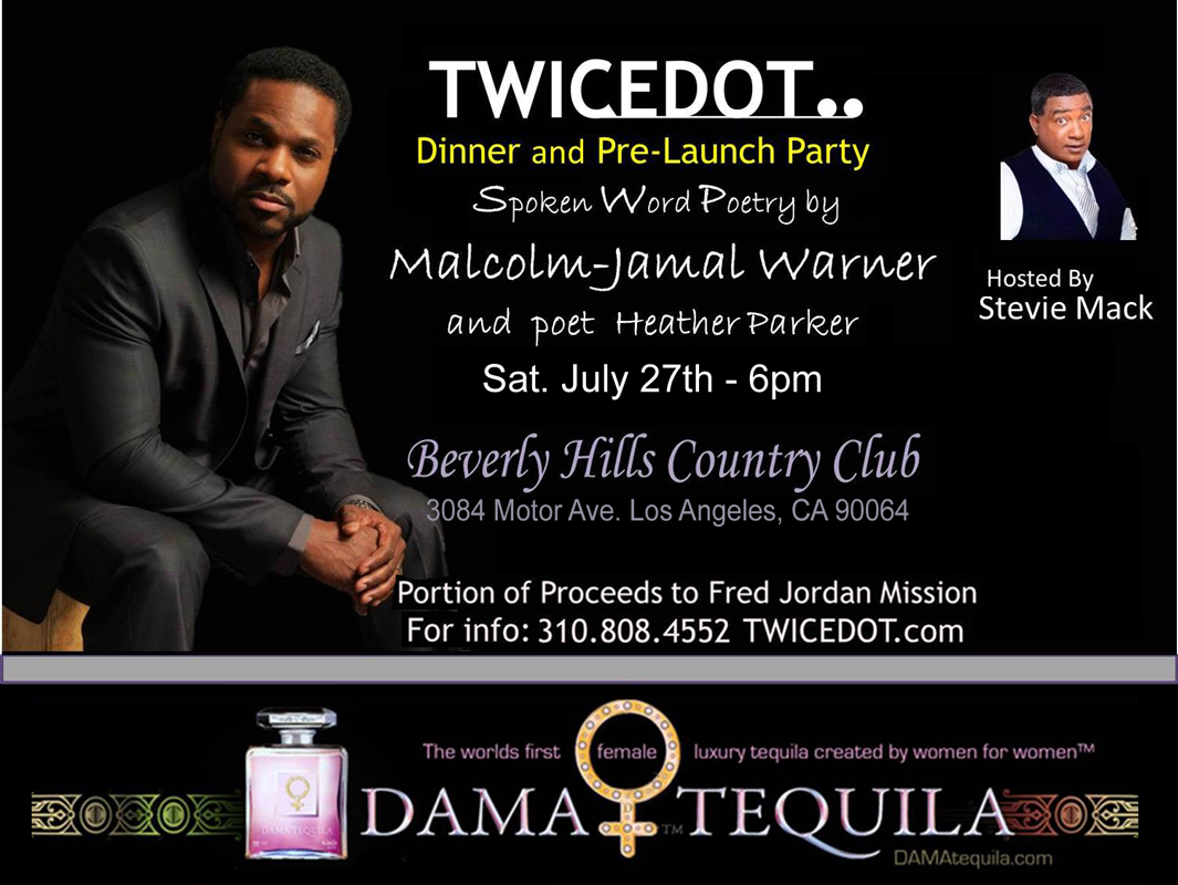 Malcolm-Jamal Warner will perform spoken word poetry at Beverly Hills Country Club Saturday July 27 Doors open at 6pm