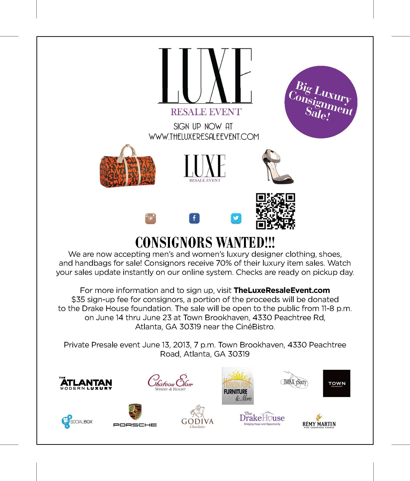 The Luxe Resale Event