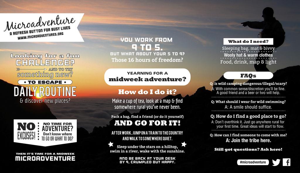 Microadventures Flyer