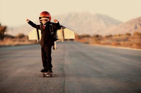 Skateboard Rocket Kid