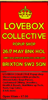 LOVEBOX COLLECTIVE Pop up shop