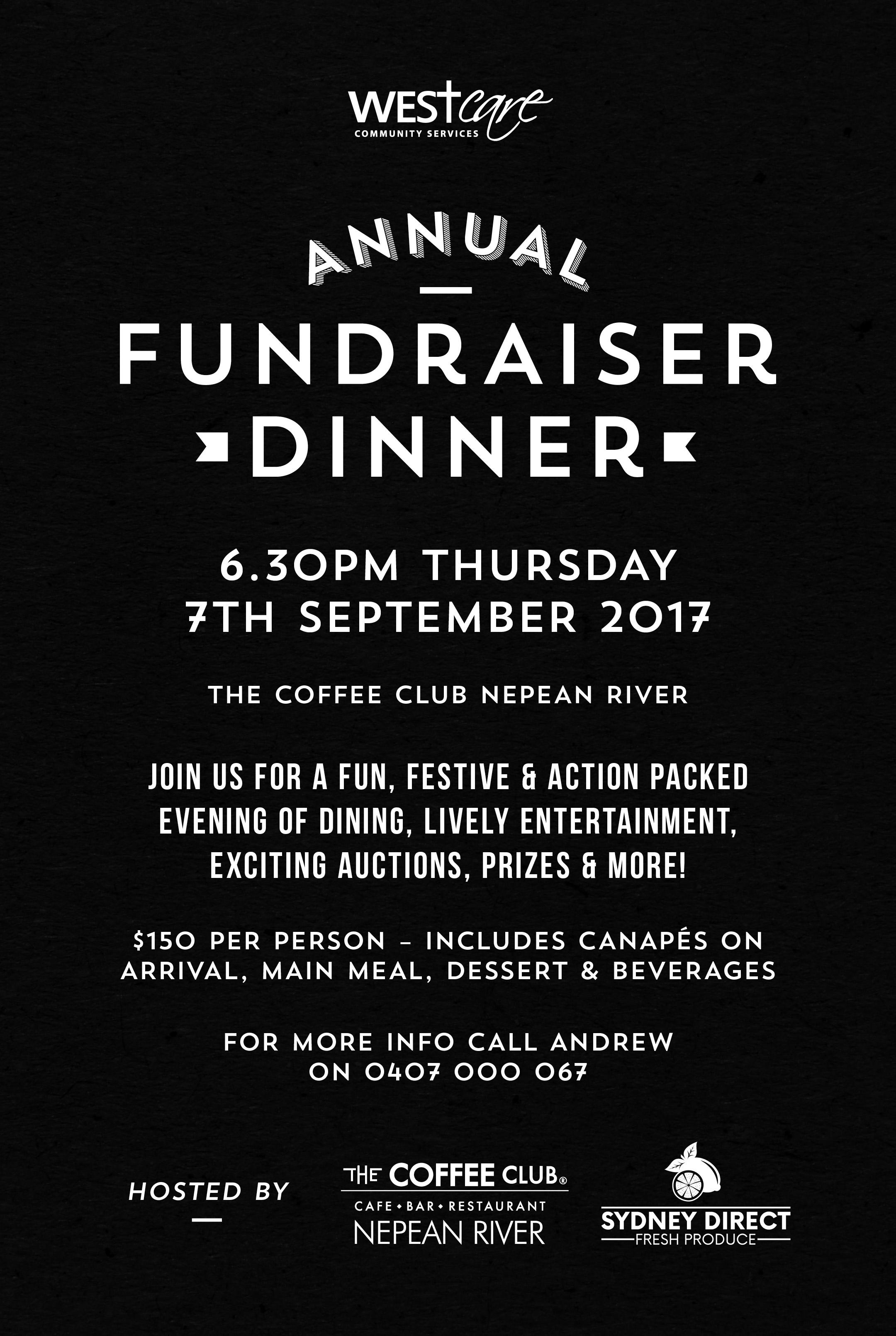 Fundraiser Dinner details