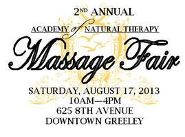 2nd Annual Academy of Natural Therapy Massage Fair
