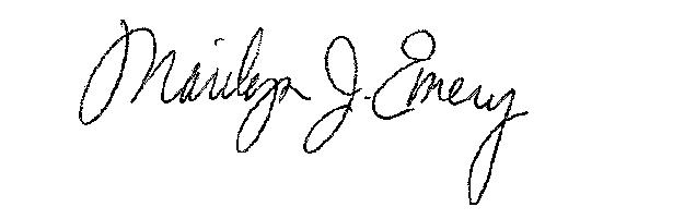 Marilyn Emery signature