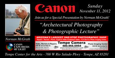 Tempe Camera Presents - Canon Explorer of Light, Norman...