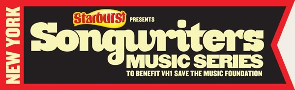 Songwriters Music Series New York to benefit VH1 Save The Music Foundation