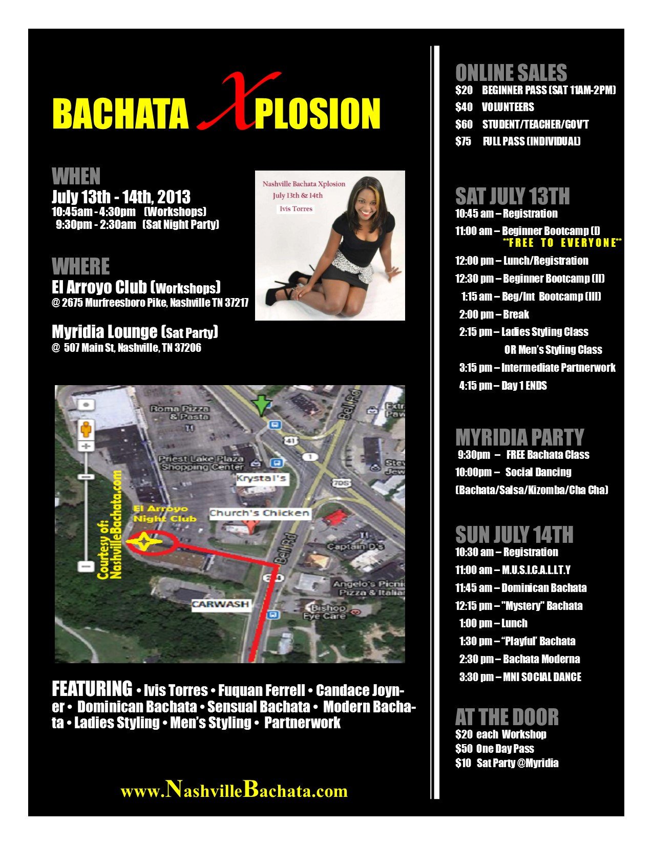 FINAL SCHEDULE of Bachata Xplosion