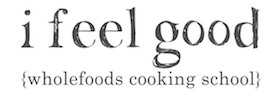 I Feel Good Whole Food Plant based Cooking School Logo