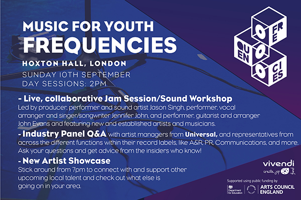 Session Descriptions, Music for Youth Frequencies, Sunday 10th September