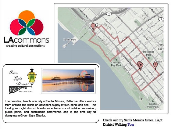Santa Monica Greenlight District Tour Map