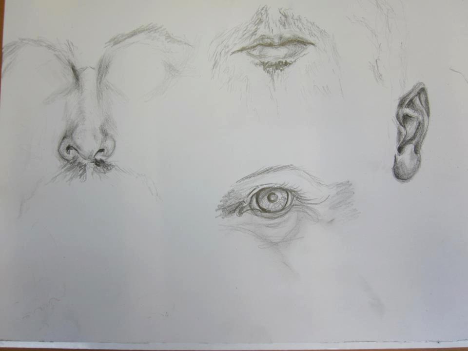 Werk cursisten Portrettekenen
