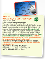 Thursday Night Adult Co-ed Recreational Volleyball in New Lenox