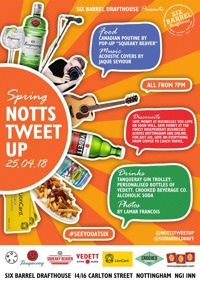 Notts Tweet Up 25th April 2018 Flyer