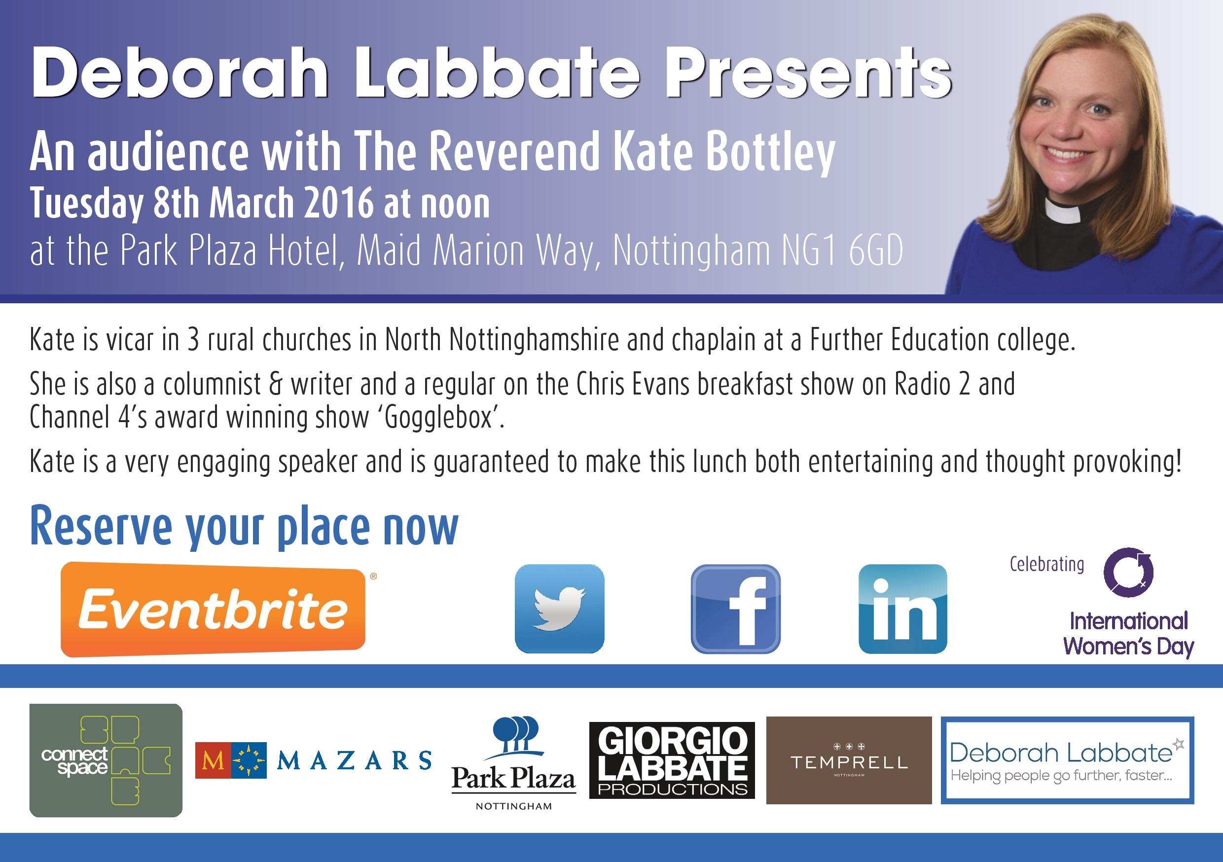 Deborah Labbate Presents An audience with ... The Reverend Kate Bottley