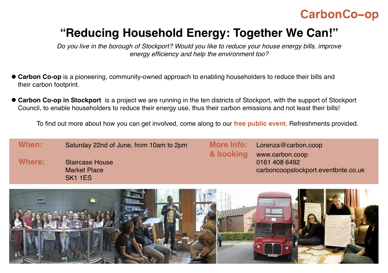 Carbon Co-op in Stockport 22 June