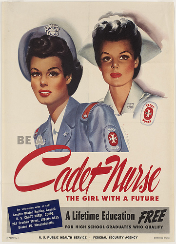 Cadet Nurse Recruitment Poster