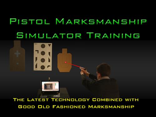 Pistol Marksmanship Simulator Training