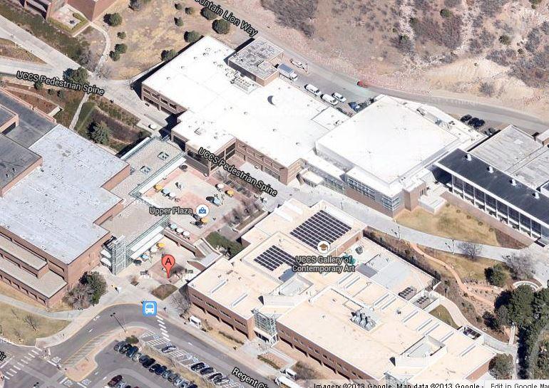 google map of UCCS