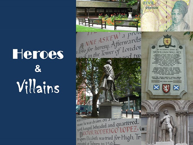 Heroes and villians London walk