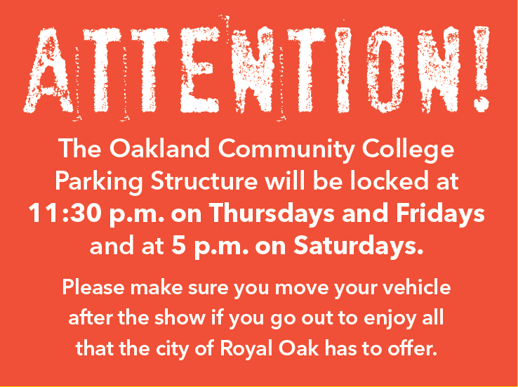 parking notice for structre