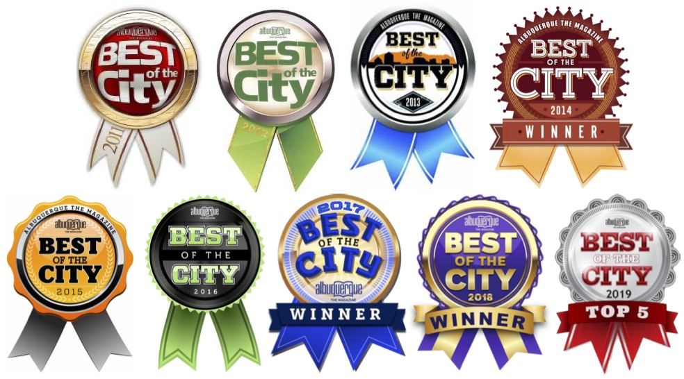 Albuquerque the Magazine Best of the City Badges 2011-2019