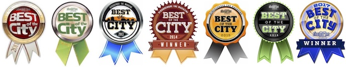 Best of the City Badges 2011-2017